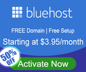 Start your blog for only $3.49 a month using blue host