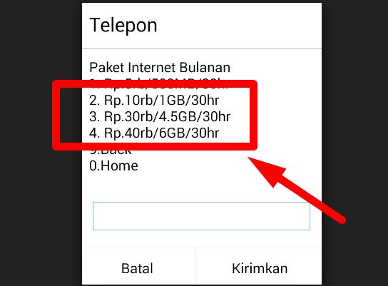 Trik Internetan Murah TELKOMSEL. Trik 1-4 Bekerja Di Beberapa Daerah Saja. Cukup Ketik..