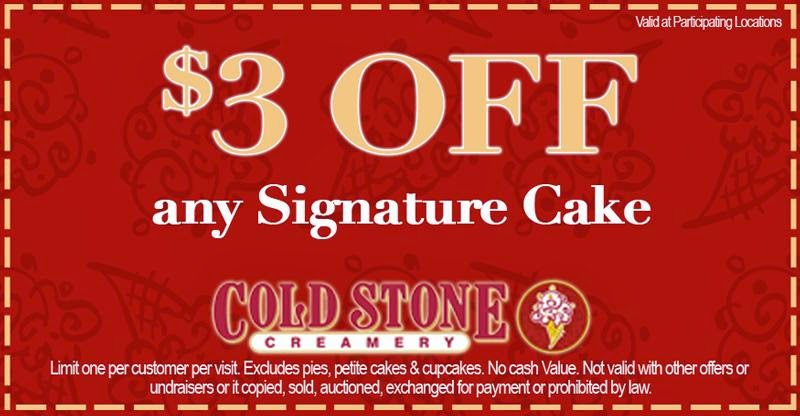 Cold stone printable coupons july 2018 / Chase coupon 125