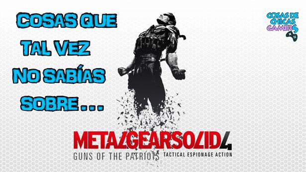 Curiosidades Metal Gear Solid 4