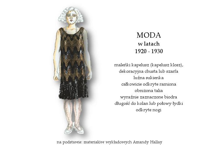 Agnieszka Sajdak-Nowicka moda w latach 1920 - 1930 na podstawie materiałów wykładowych Amandy Hallay