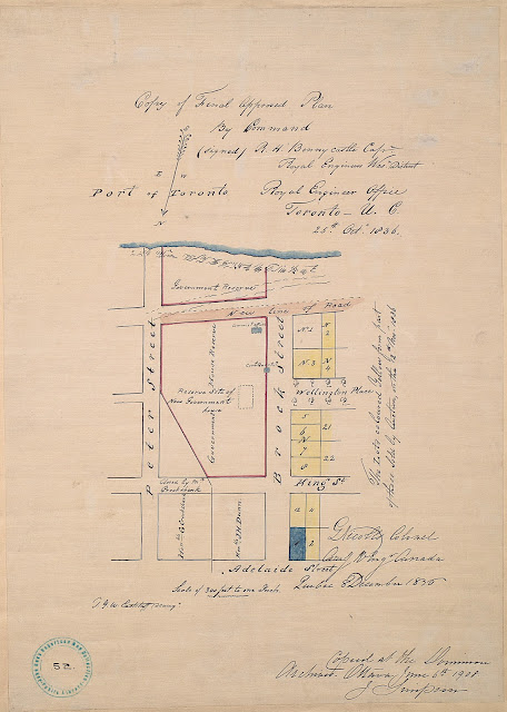 Map: Copy of Final Approved Plan By Command, 1836 R.H. Bonnycastle / Gustavus Nicolls