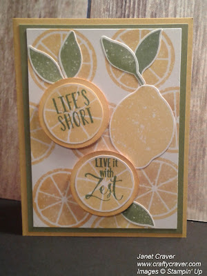 Lemon Zest, Lemon Builder, Lemon Lime Twist, Stampin Up