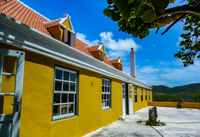 Curaçao: casa-grande da Fazenda Knip, sede do Museu Tula