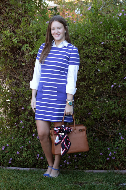 layering, layers, stripe blue dress, birkin