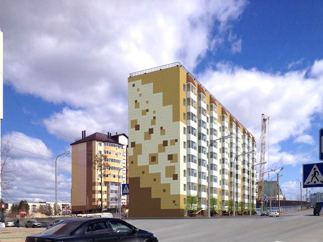 Дневной вид со стороны улицы Высоцкого