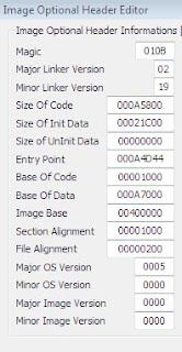 Image7. Mengubah Entry Point menggunakan PE Editors.