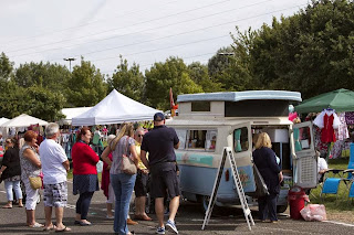 Always busy at the Little Coffee Camper - the mobile coffee van in Essex
