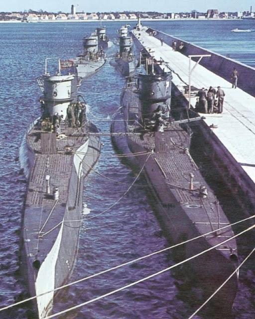 U-boats at Hel naval base May 1942 worldwartwo.filminspector.com