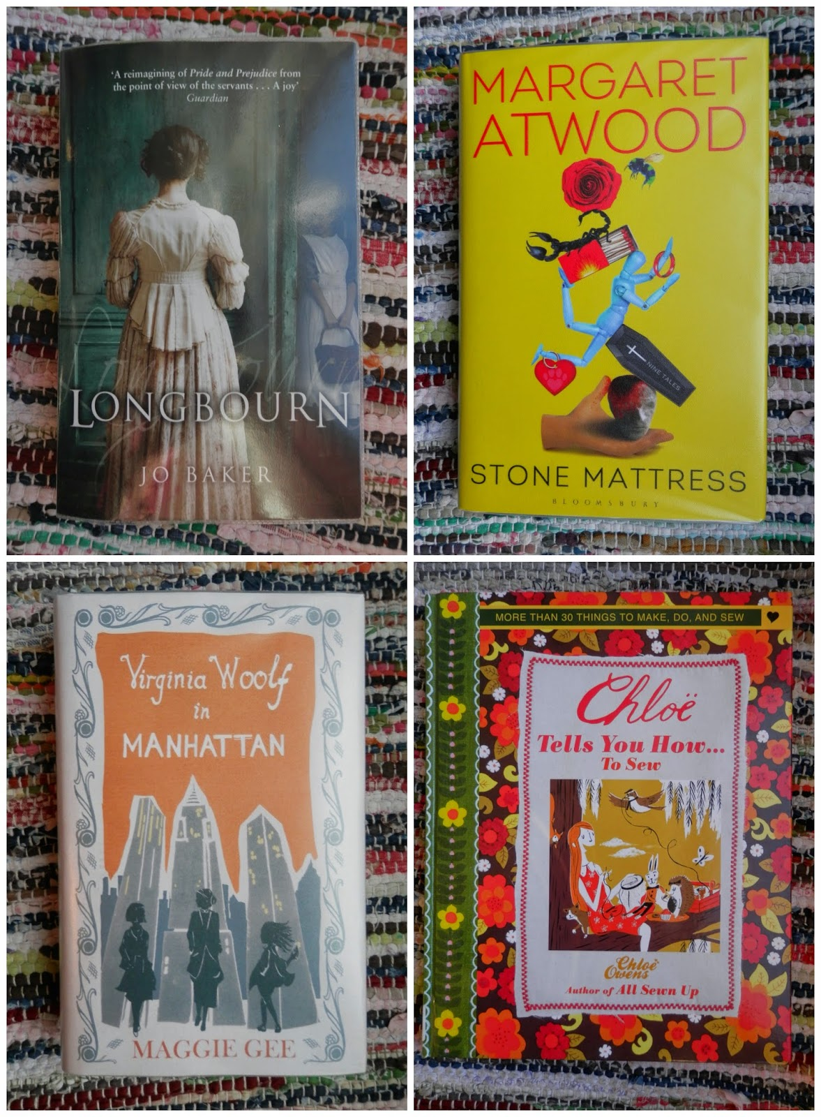 Library Love, Longbourn, Stone Mattress, Virginia Woolf in Manhattan, Chole Tells you how to Sew.  Book reviews.  secondhandsusie.blogspot.co.uk