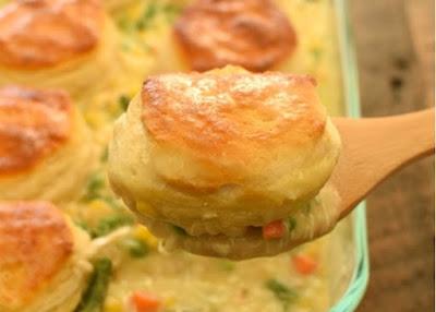 Bіѕсuіt Chісkеn Pot Pіе #Chісkеn #Pie #Biscuit #Dinner