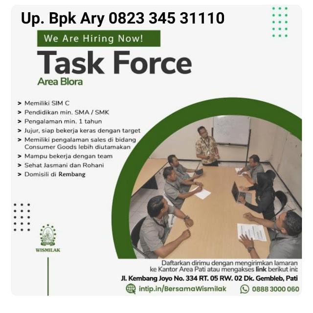 Lowongan Kerja Task Force Rokok Wismilak  PT Gawih Jaya Area Rembang Blora