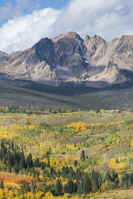 Fall Colors on Guyselman Peak Gore Range, Colorado