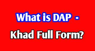 what-is-dap-khad-full-form