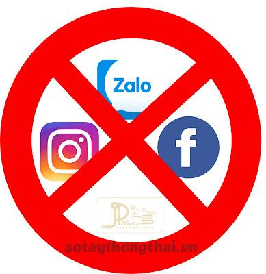 hạn chế sử dụng mạng xã hội vào việc riêng