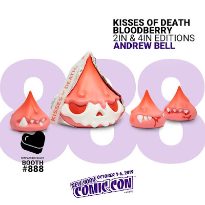 New York Comic Con 2019 Exclusive Bloodberry Kisses of Death Vinyl Figures by Andrew Bell x myplasticheart