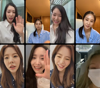 Tiffany IG Live with SNSD members