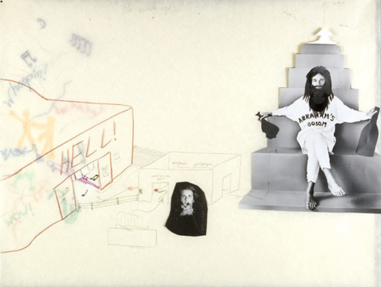 Helen Frik The Middle Ages, 2005 collage, pencil, ink, wax crayon on paper 41 x 61 cm