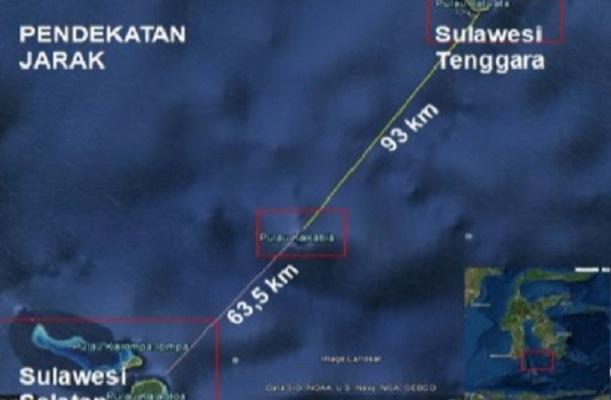 Basli Ali Tunjukkan Bukti Pulau Kakabia Milik Kabupaten Kepulauan Selayar