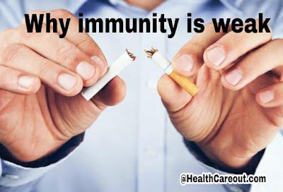 Why immunity is weak healthcareout