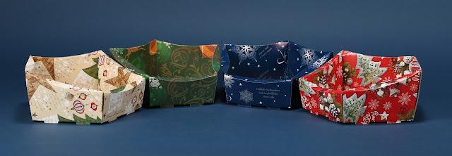 Kosze ozdobne prezentowe z motywem świątecznym 2