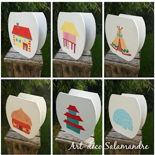 Lampes en bois décorées des maisons du monde