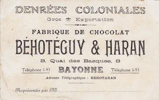 chocolat pays basque autrefois