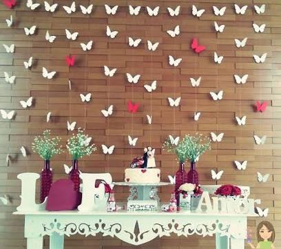 Decoração borboletas 15 anos
