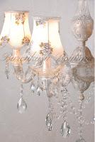 çiçekli şapkalı, kristal taşlı avize, aydınlatma,