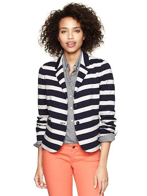 Gap Striped Ponte Academy Blazer