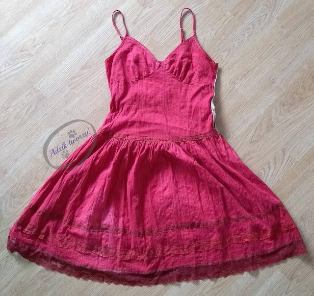 Adzik tworzy - przeróbka i farbowanie sukienki DIY