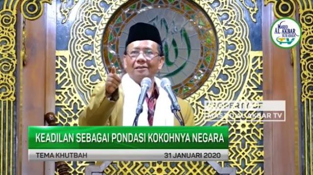 Viral Ceramah Mahfud MD, Fadli Zon: Menkopolhukam Perlu Menyimak