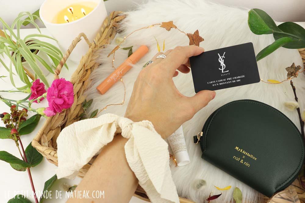 carte cadeau 10 € Yves Saint Laurent sans frais de port