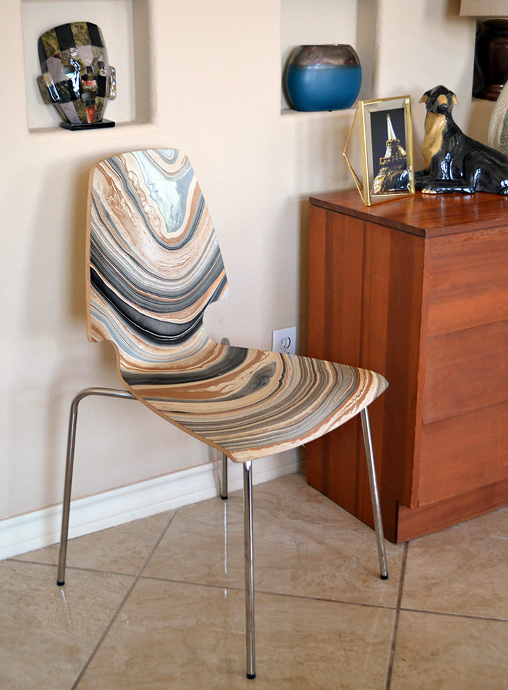 MARBLED IKEA VILMAR CHAIR