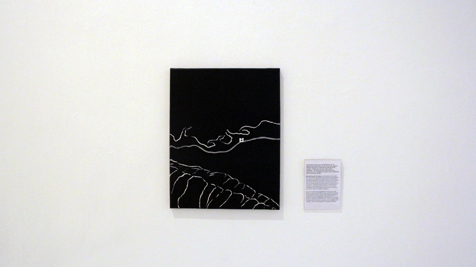 Entre la montaña y el mar es una pintura de mediado formato sobre la ubicación geografica del hotel Miramar