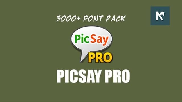 Picsay Pro MOD APK Font Pack