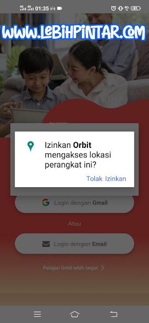 izin mengakses lokasi perangkat orbit telkomsel