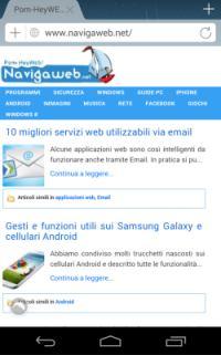 Disattivare la versione cellulare di un sito sullo smartphone