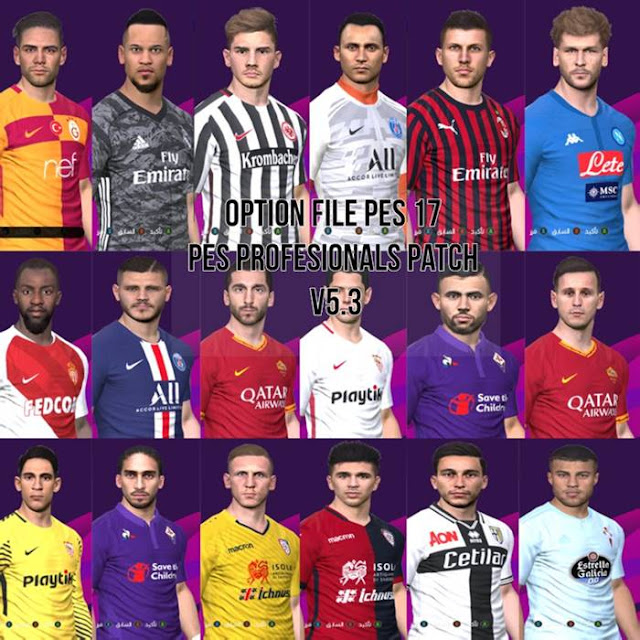 New Option File For PES Professional Patch 5 3 #03-09-2019