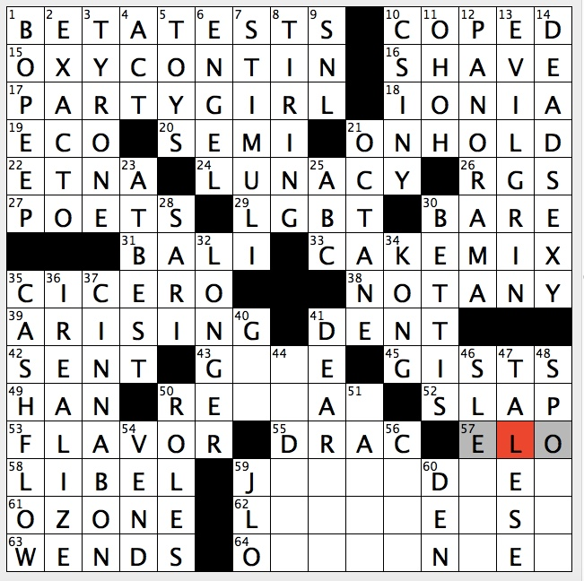 Rex Parker Does The Nyt Crossword Puzzle Diddy Peanut Shooting