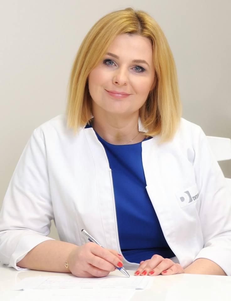 zdjęcie przedstawiające dermatolog dr Aleksandrę Lesiak