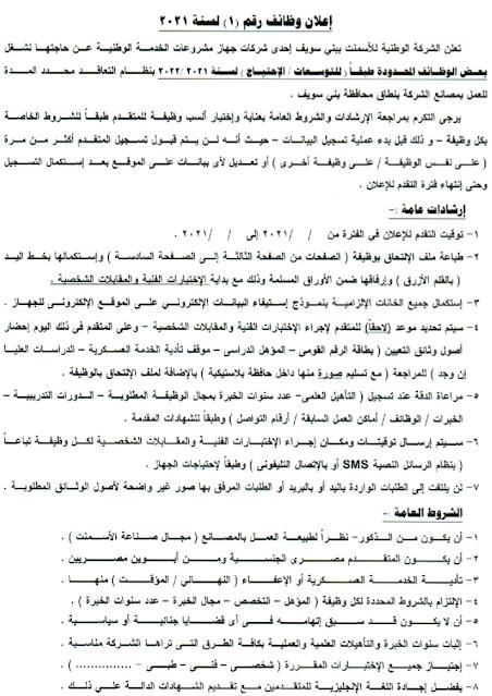 اعلان وظائف جهاز مشروعات الخدمة الوطنية للمؤهلات العليا والتقديم الكترونى 15 / 4 / 2021