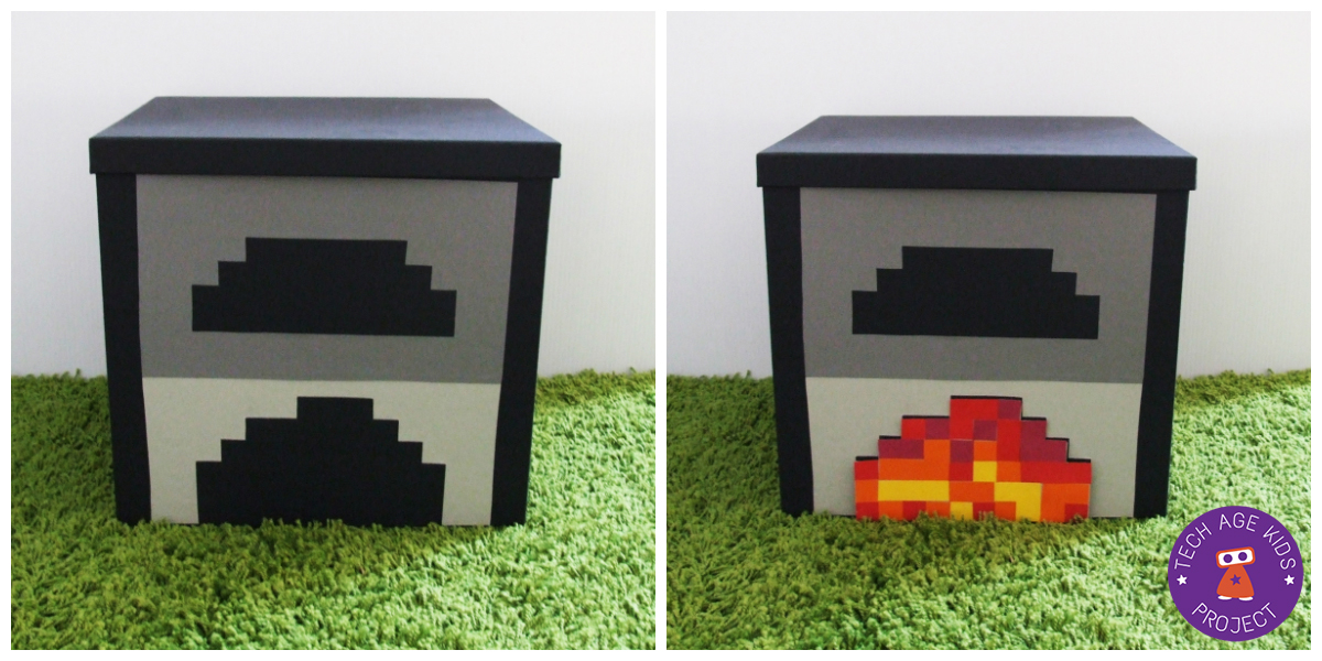 Making Real World Minecraft From Ikea Storage Boxes Tech Age Kids Technology For Children