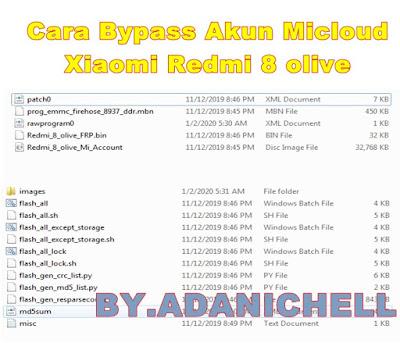 Cara Bypass Akun Micloud Xiaomi Redmi 8 olive