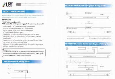 Инструкция по использованию и изменению схем управления LEDTube ламп