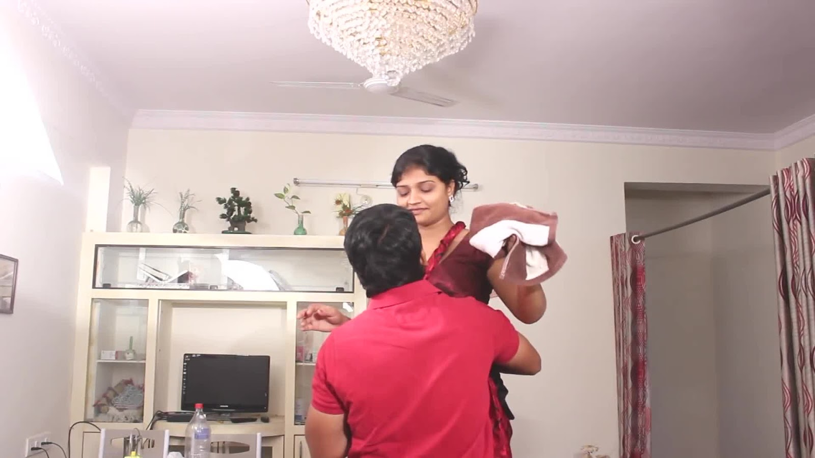 Young Aunty Hunter Hot South Indian Aunty Bedroom -1528