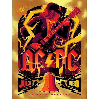 "AC/DC ""July 31, 1980 Philadelphia, PA"" Screen Print Tom Whalen x ECHO"