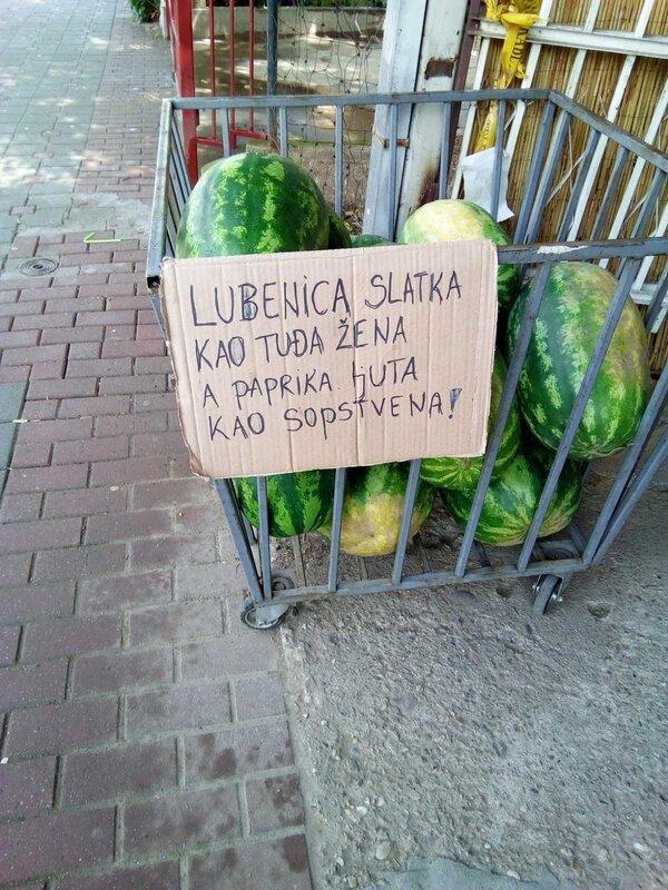 lubenice na pijaci u sokobanji