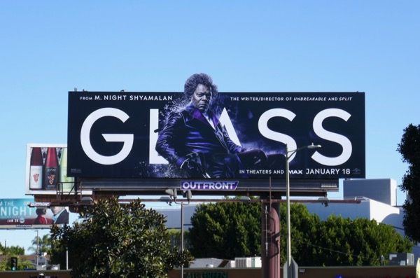 Samuel L Jackson Glass billboard