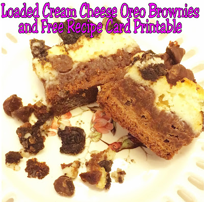 Oh. My. Goodness.  These are the best brownies I have EVER eaten.  These Loaded Cream Cheese Oreo Brownies are the perfect dessert to bring to a potluck or party...or to hide and eat all by yourself.